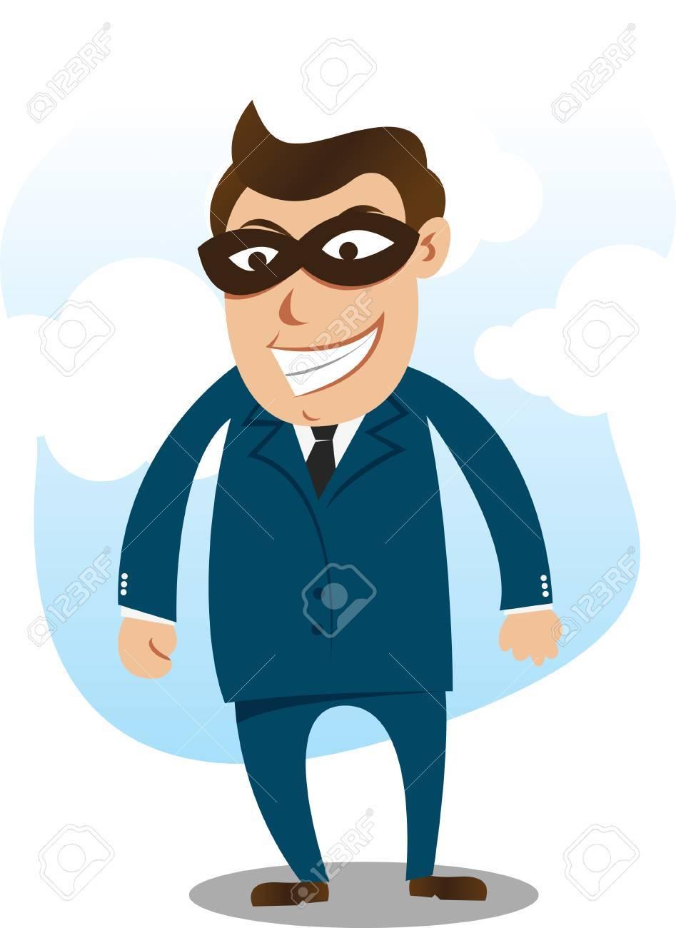 robber wearing suite Stock Vector - 8079118