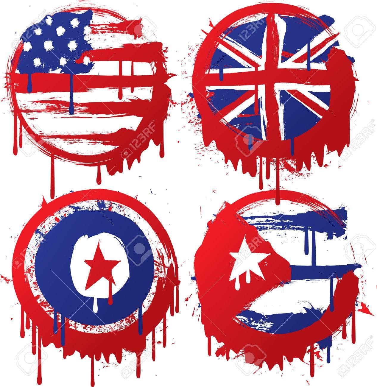 grunge flag made from splatter Stock Vector - 8876121