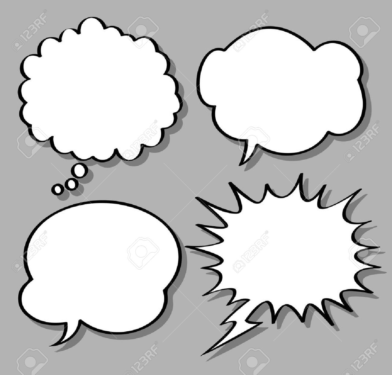 comical bubble speech Stock Vector - 9706736