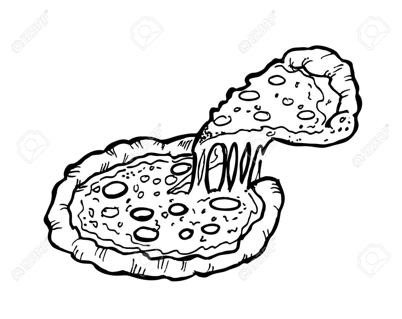 pizza doodle Stock Vector - 13101790