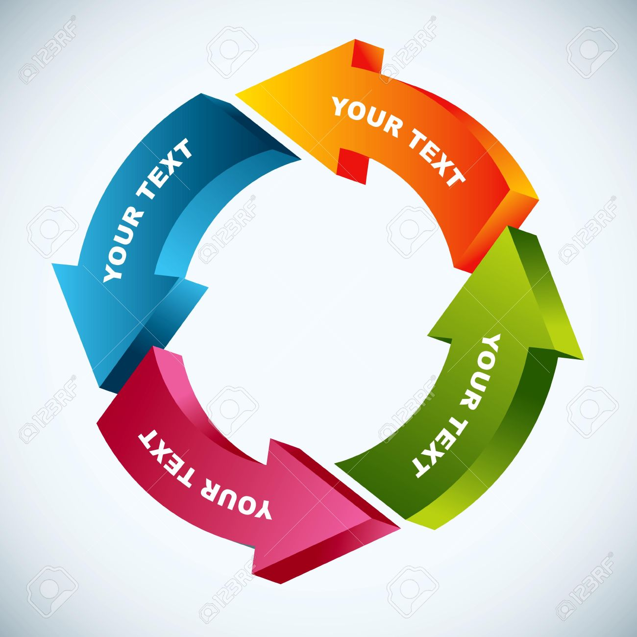 Process cycling arrow by arrow royalty free stock images image - Recycling Process Work Flow Chart