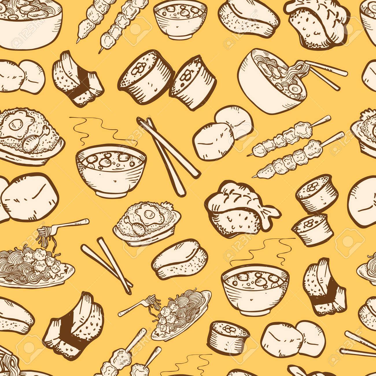 food seamless pattern Stock Vector - 13138052