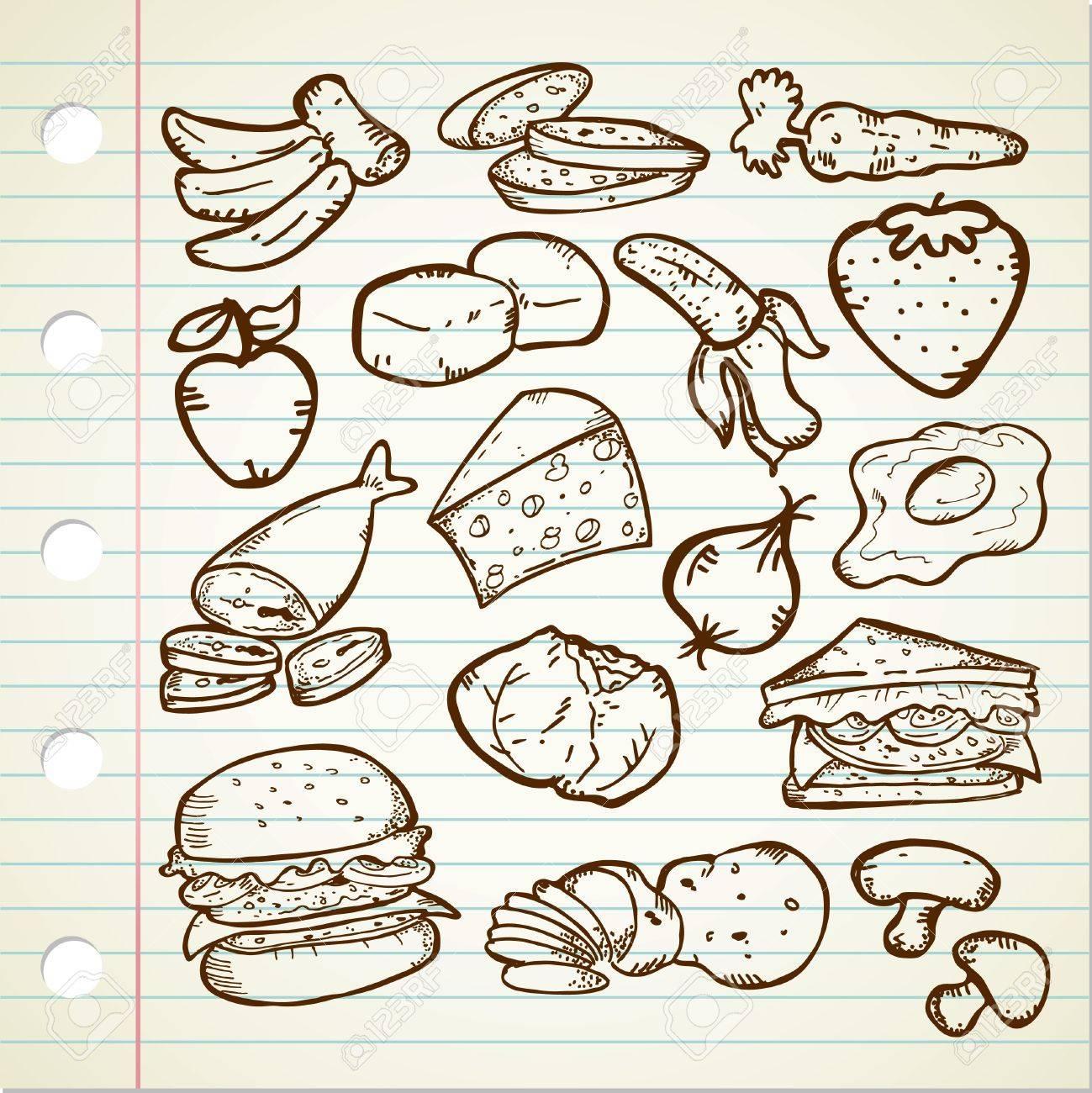 healthy food doodle Stock Vector - 13120547