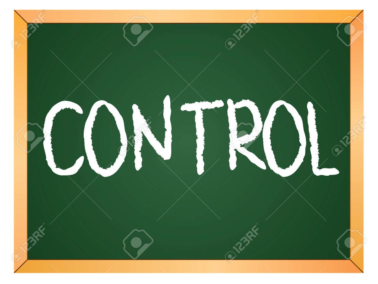 control word written on chalk board - 13165330
