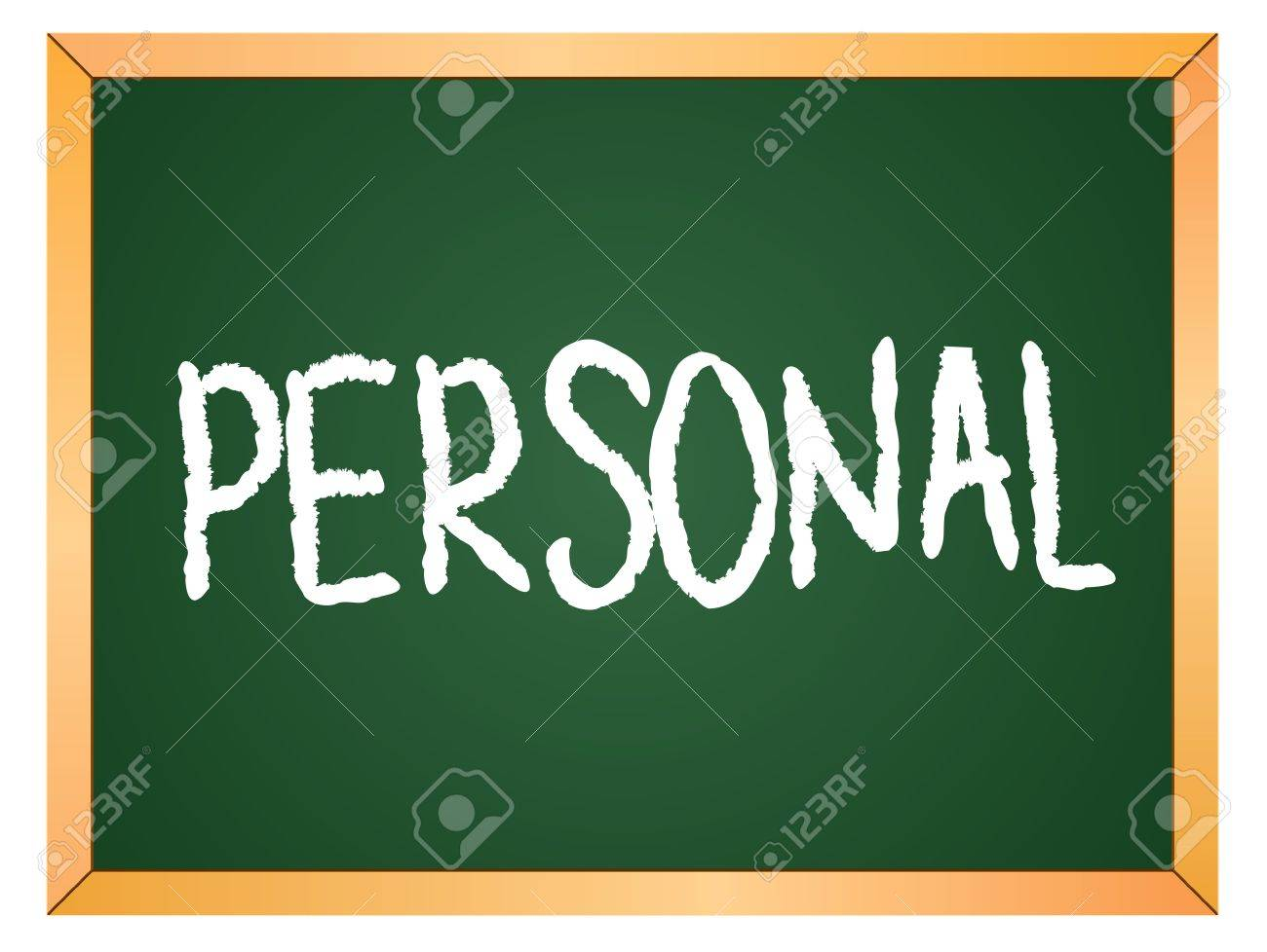 personal written on chalk board Stock Vector - 13165356