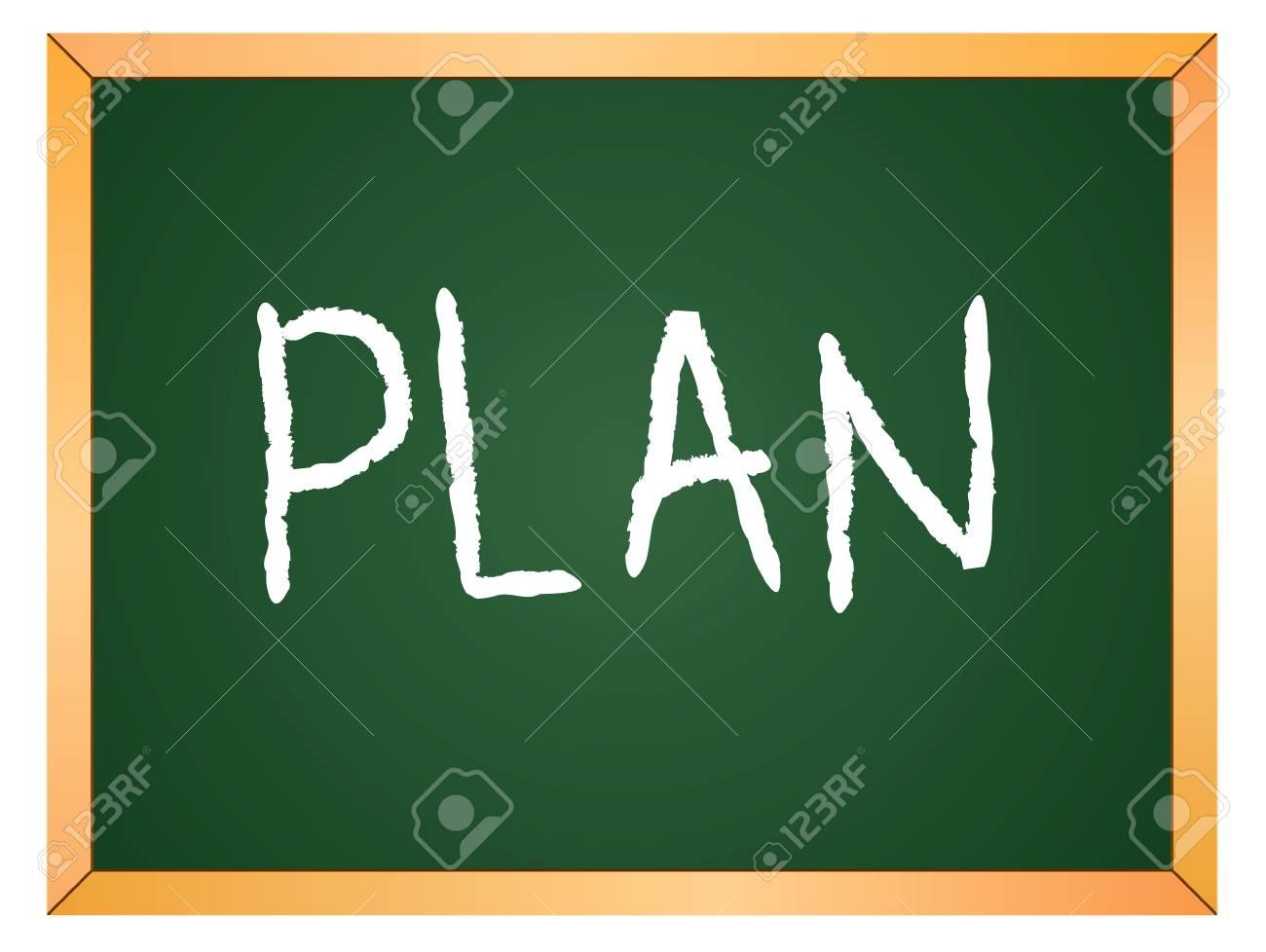 plan word written on chalk coard Stock Vector - 13165322