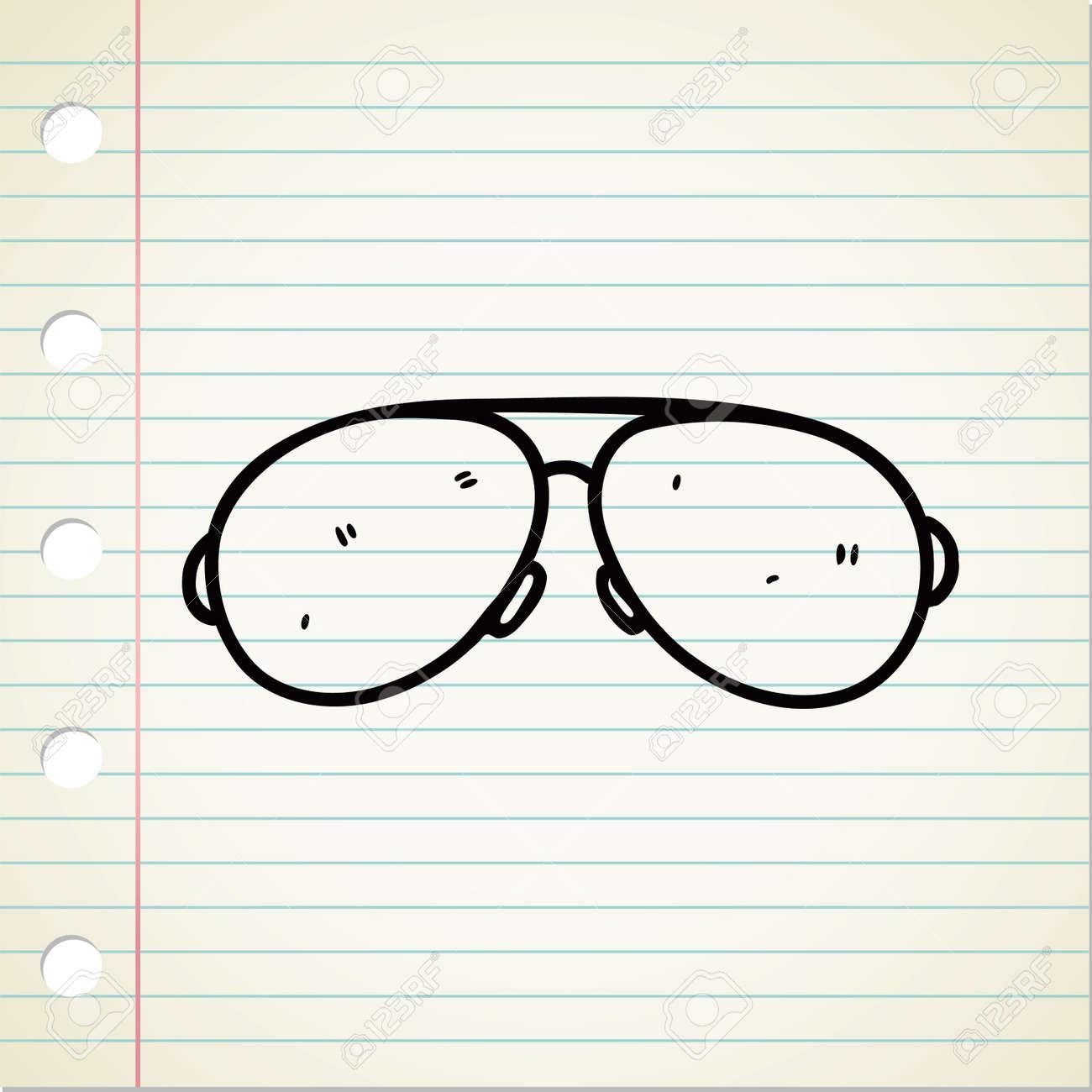 sunglasses doodle Stock Vector - 13194932
