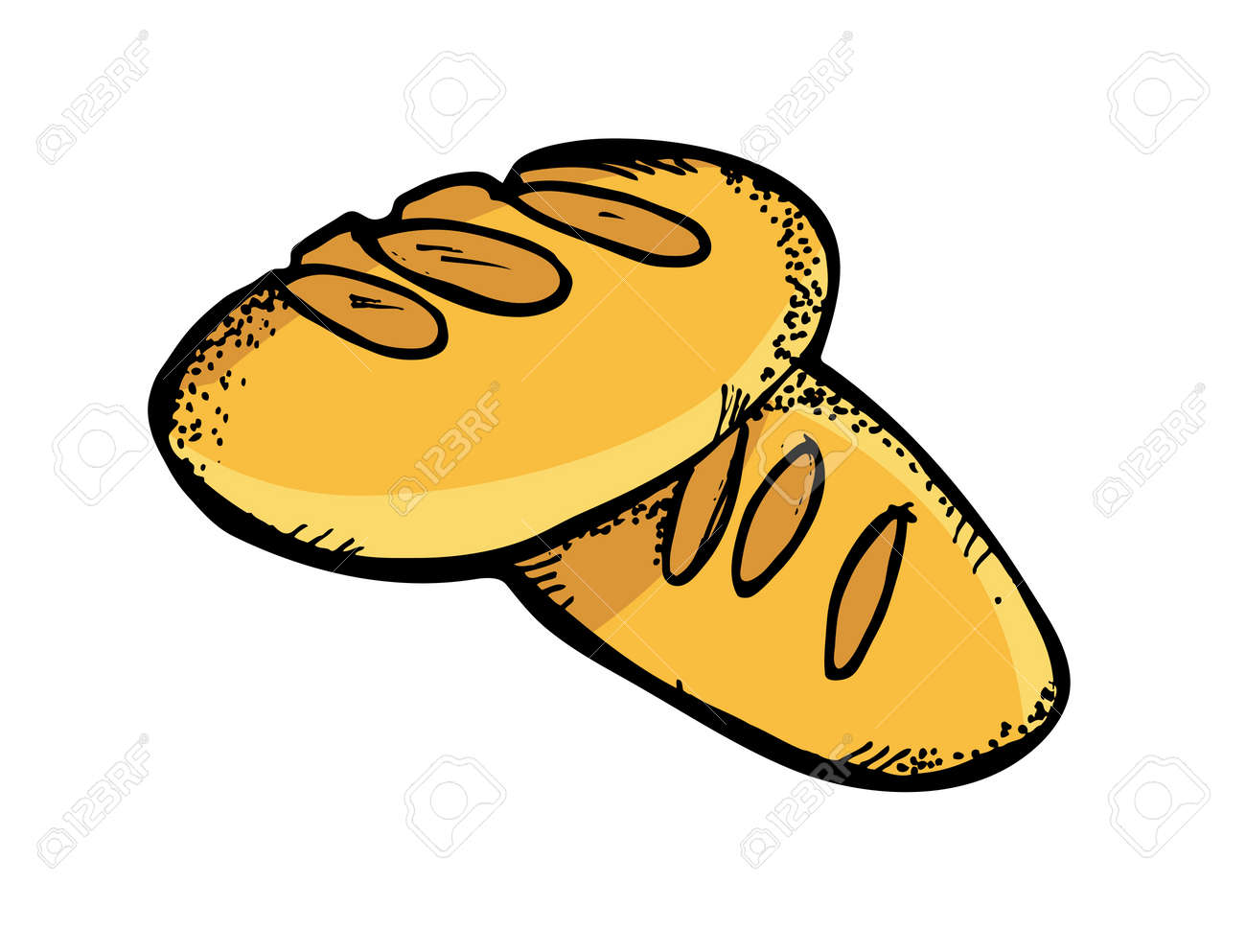bread in doodle style royalty free cliparts vectors and stock rh 123rf com bread clip art free beard clip art free