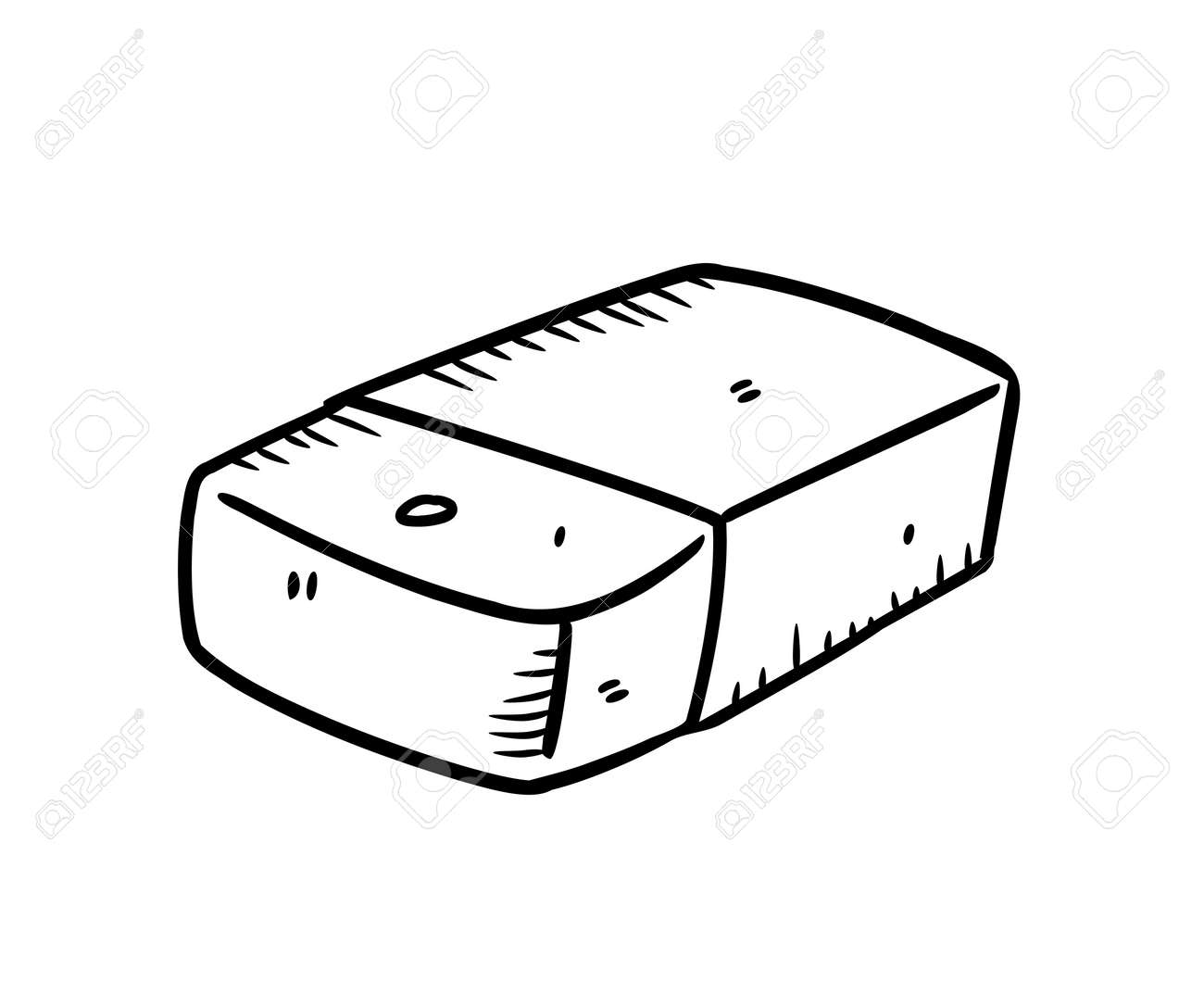 eraser in doodle style royalty free cliparts vectors and stock illustration image 13621374 eraser in doodle style