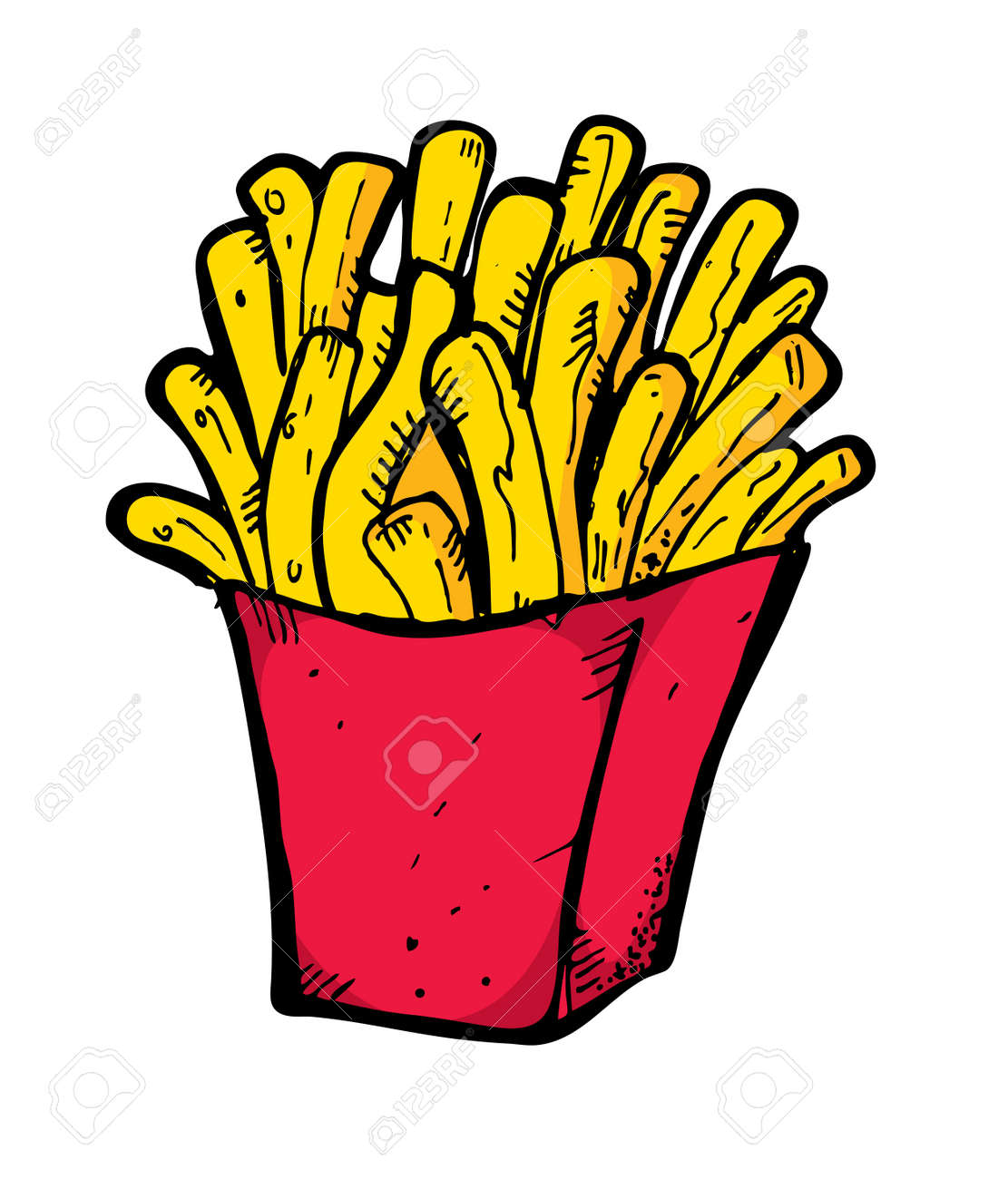 french fries hand drawn Stock Vector - 13621387