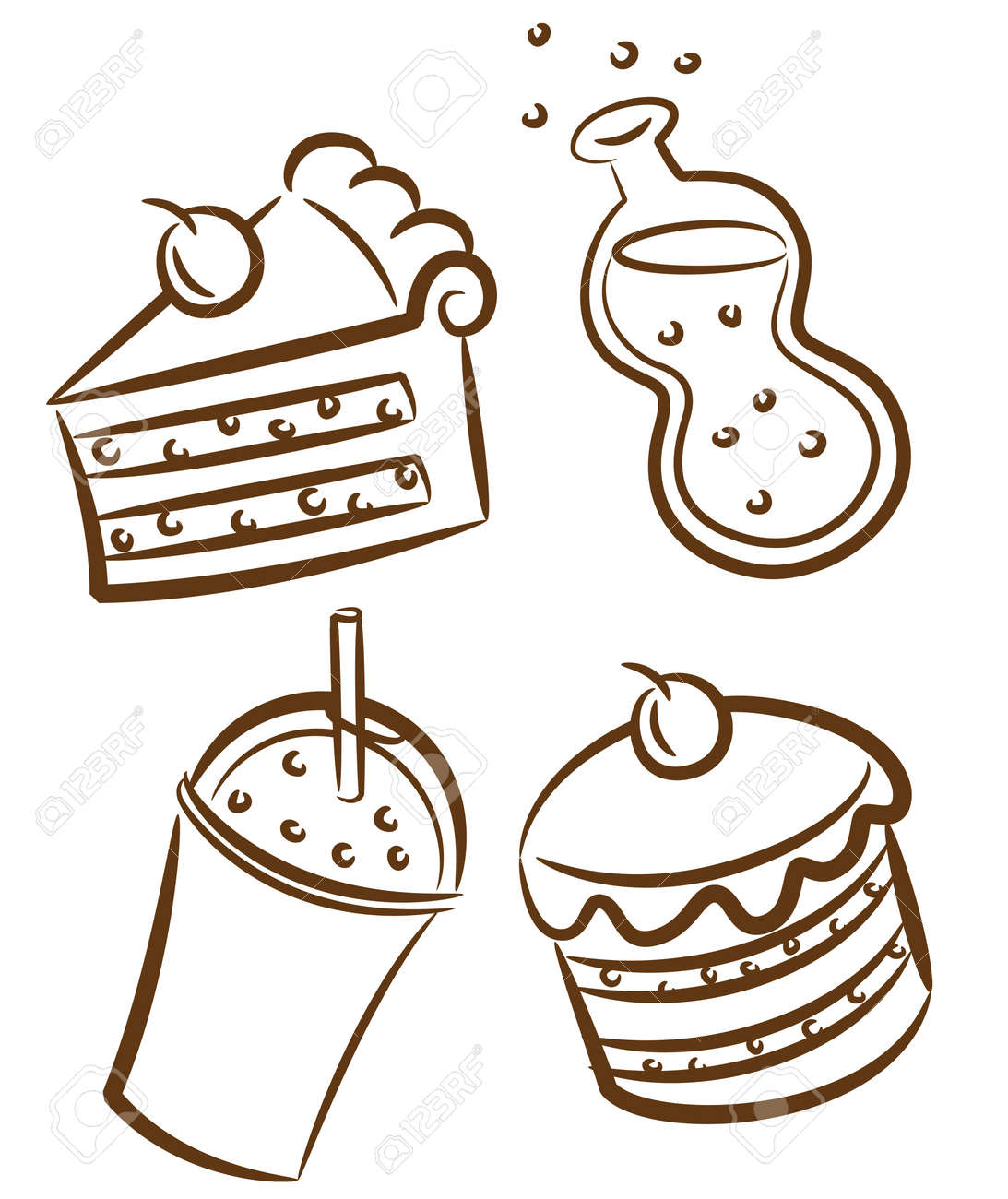 Food And Drink Doodle Royalty Free Cliparts Vectors And Stock