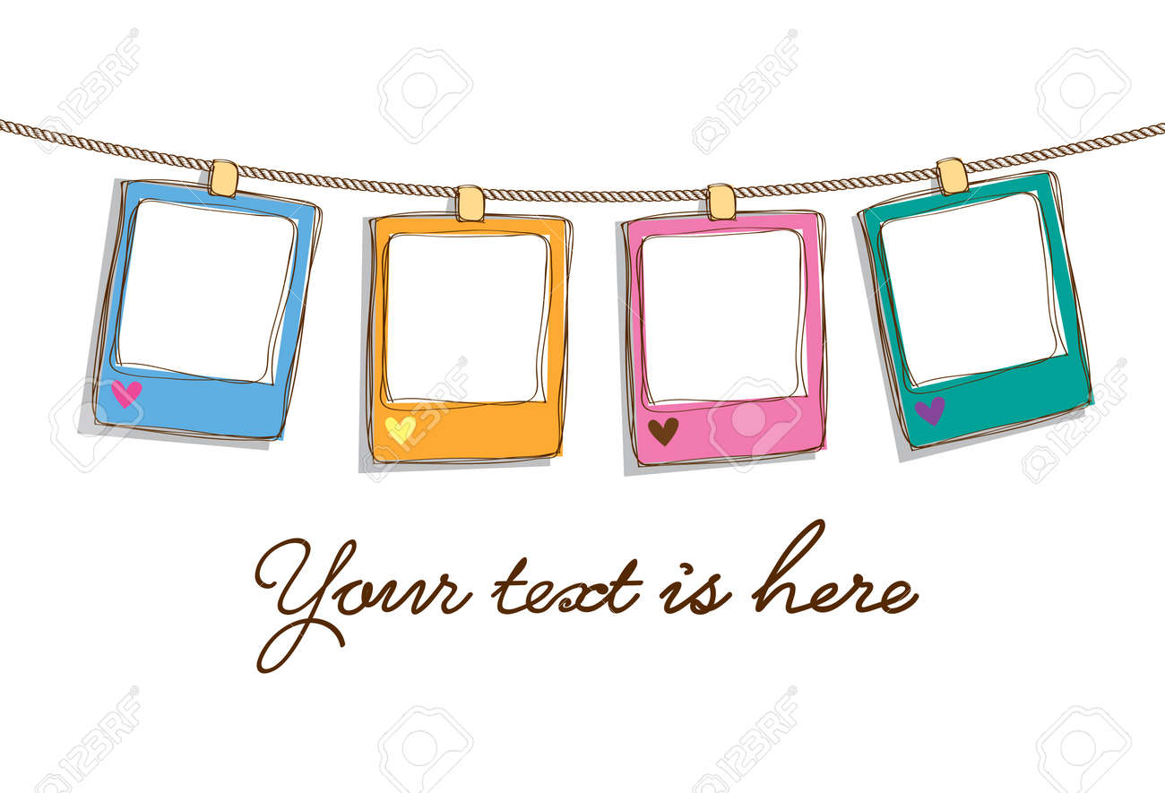 Set Of Cute Frame Doodle Royalty Free Cliparts, Vectors, And Stock ...