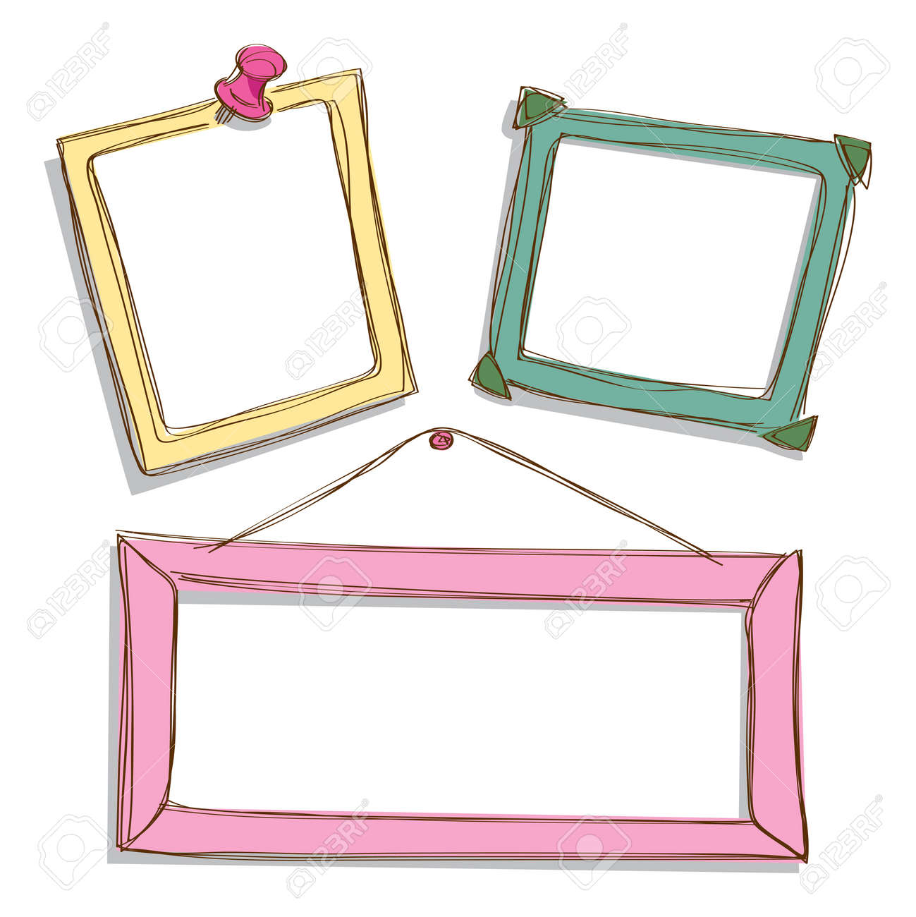 set of cute frame doodle Stock Vector - 14783364