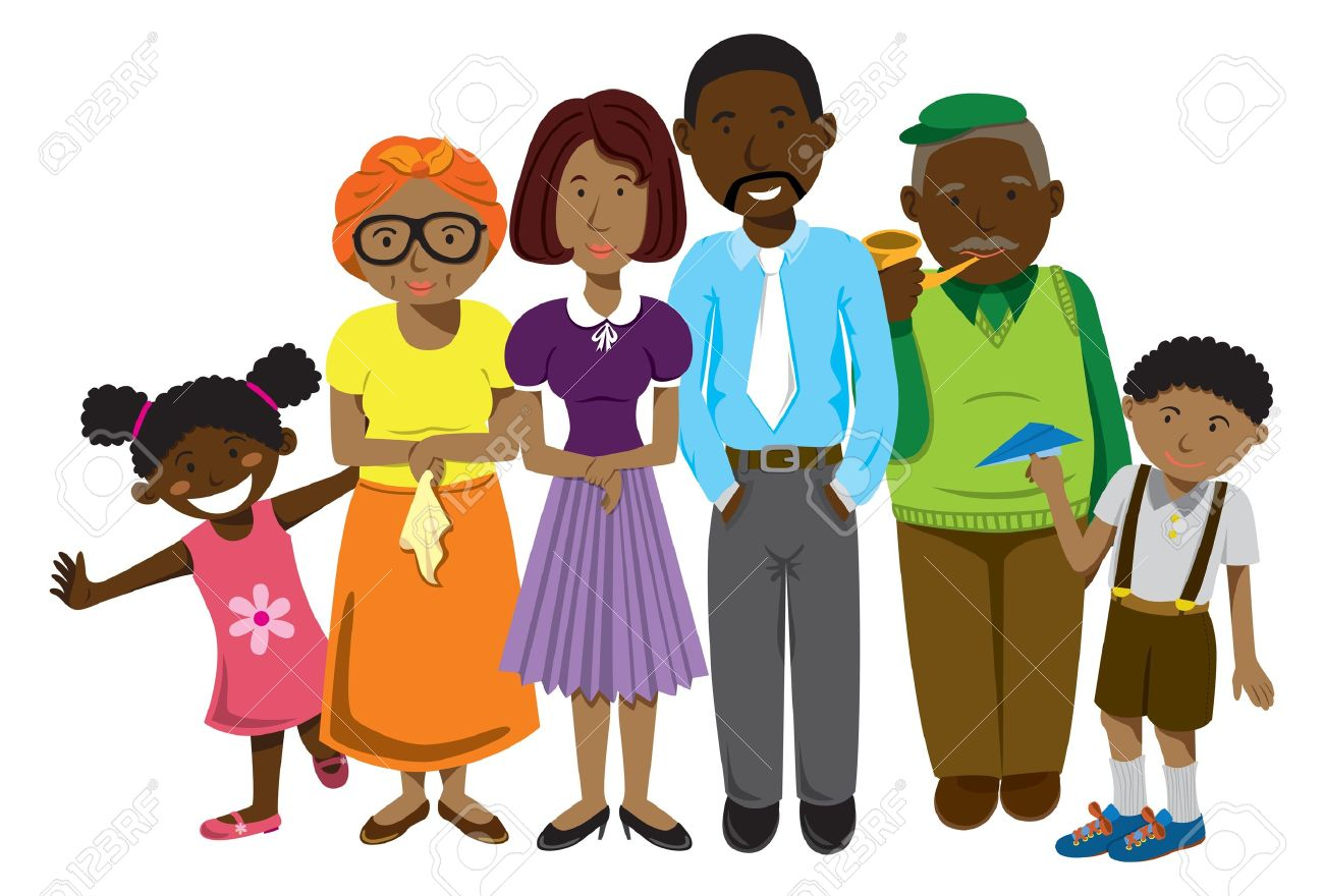 african family cartoon royalty free cliparts vectors and stock rh 123rf com cartoon family pictures free cartoon family pictures of 5