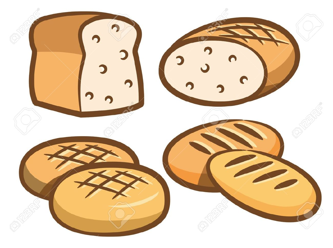 set of bread icon Stock Vector - 15375363