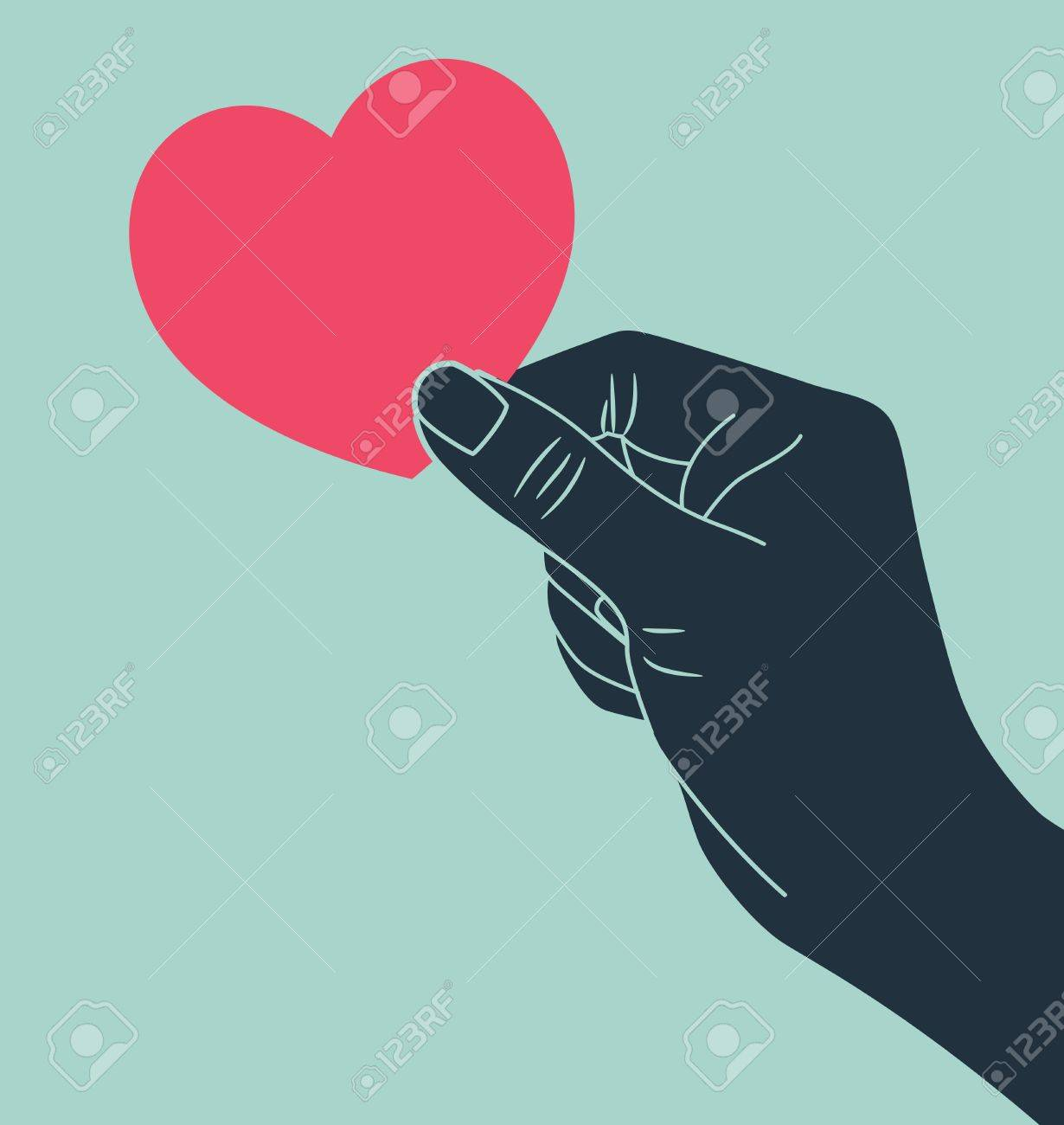 hand giving love symbol Stock Vector - 15393441