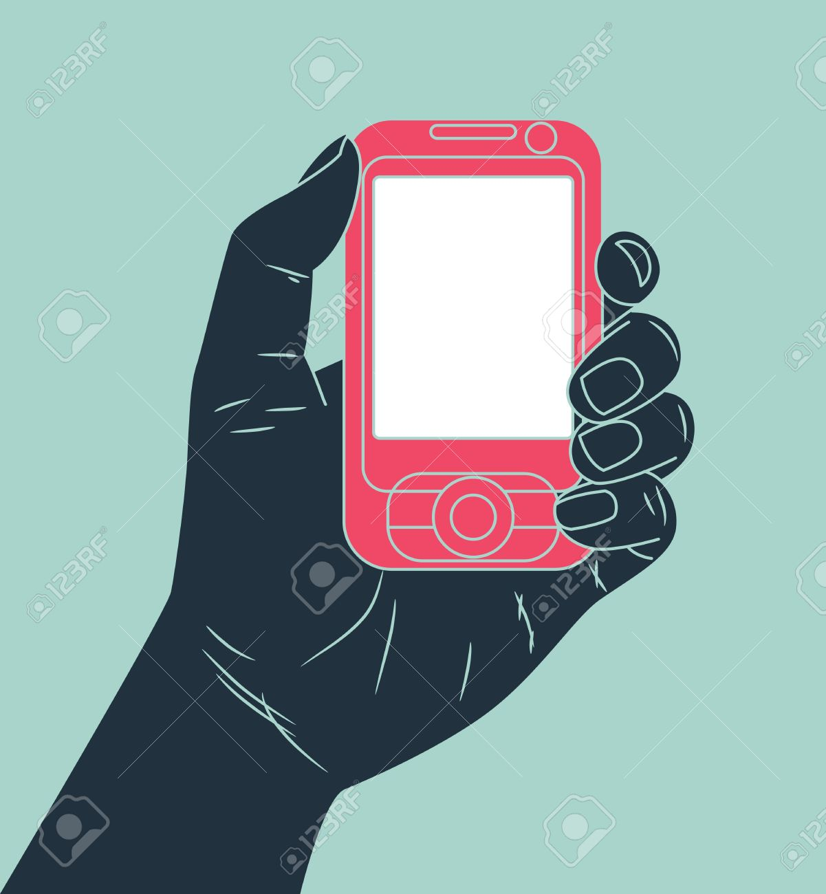 hand holding cell phone - 15567884