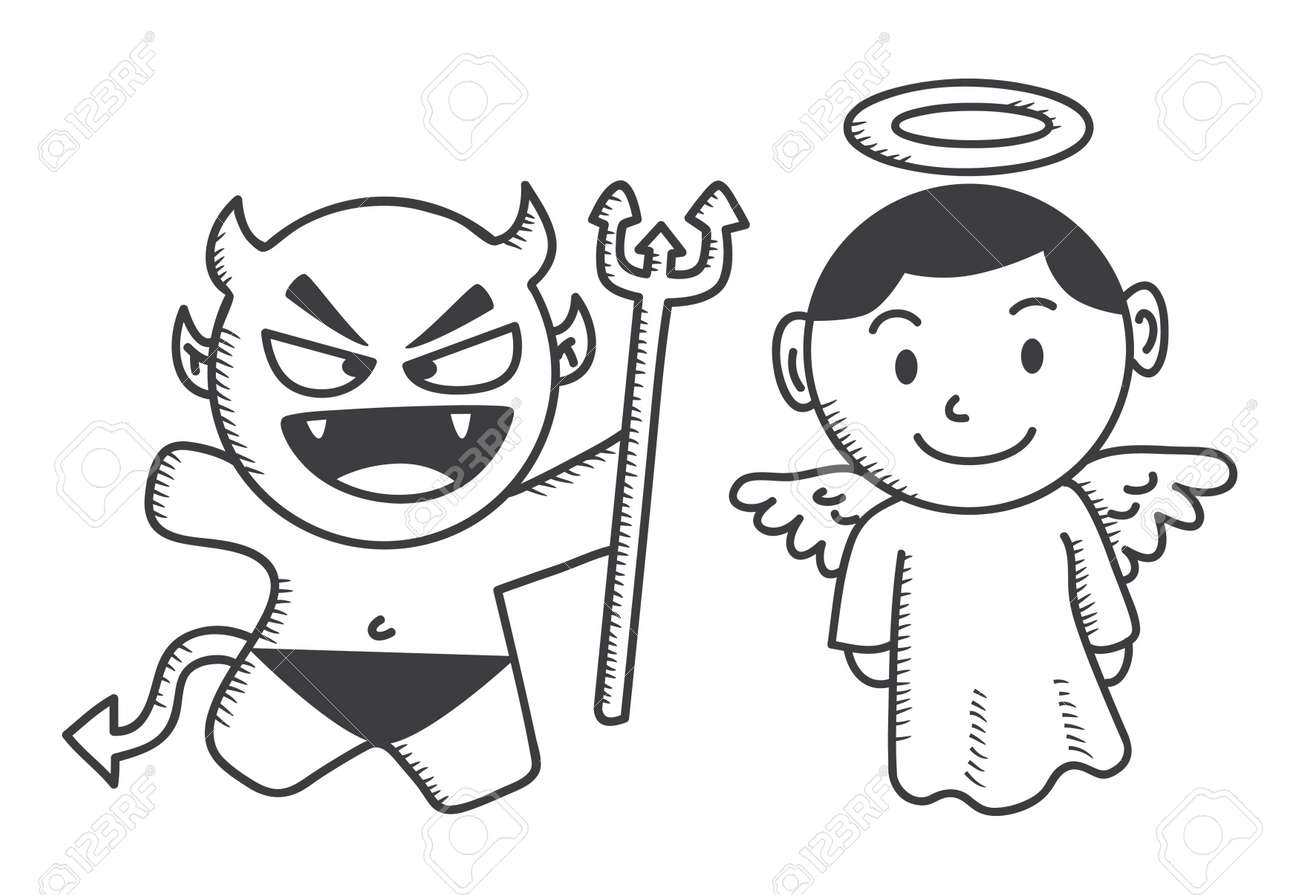 devil and angel cartoon Stock Vector - 16591606
