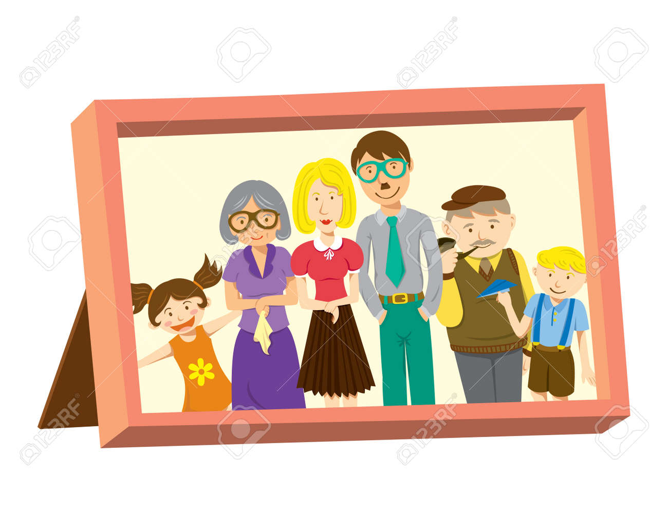 Vintage Frame With Family Photo Royalty Free Cliparts, Vectors, And ...