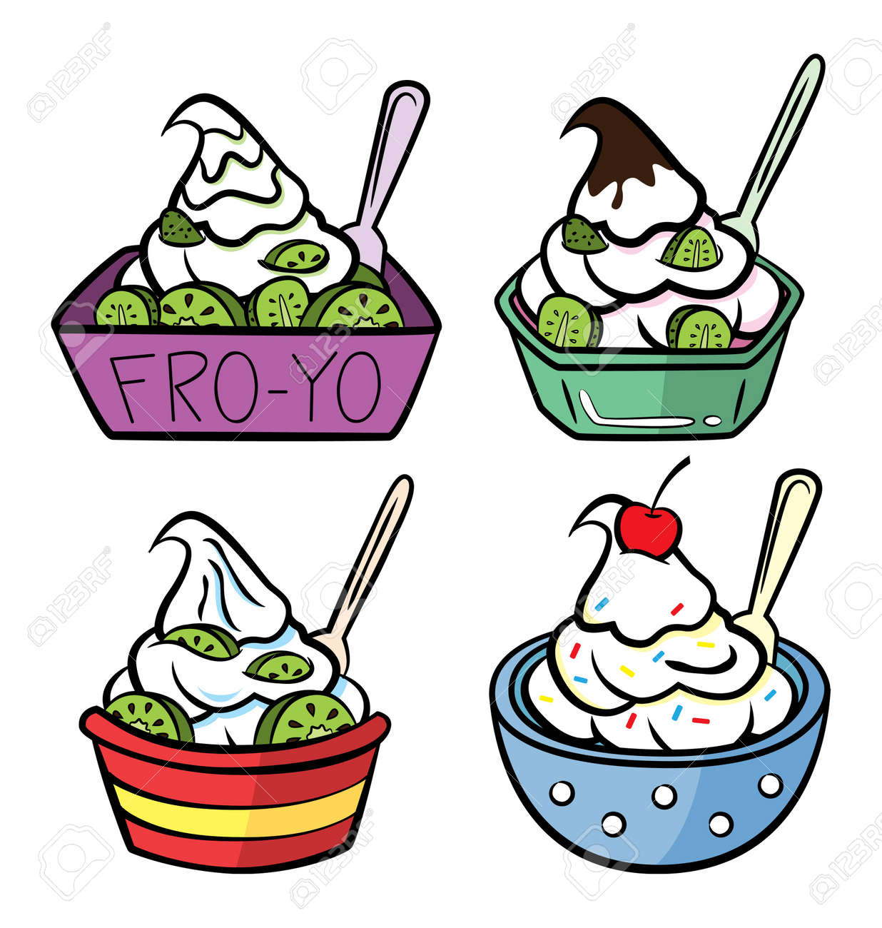 a cup of frozen yogurt royalty free cliparts vectors and stock rh 123rf com