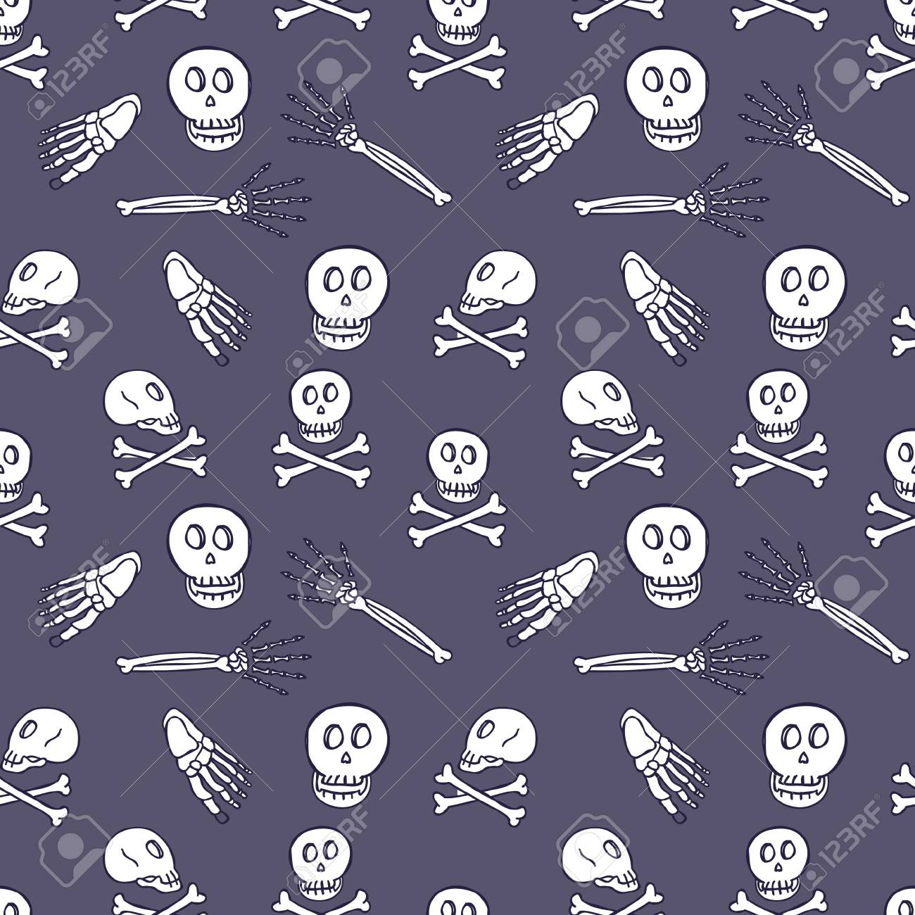 skull seamless pattern Stock Vector - 18436955
