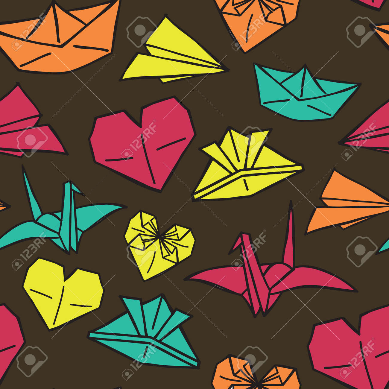 Vintage Origami Background Royalty Free Cliparts Vectors And Stock