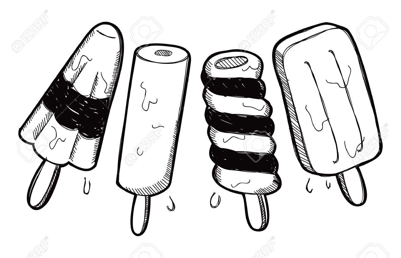 set of ice pop doodle Stock Vector - 18959523