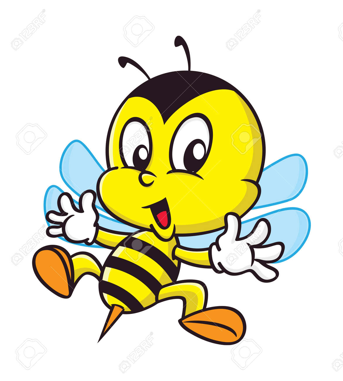 Bumblebee cartoon bee