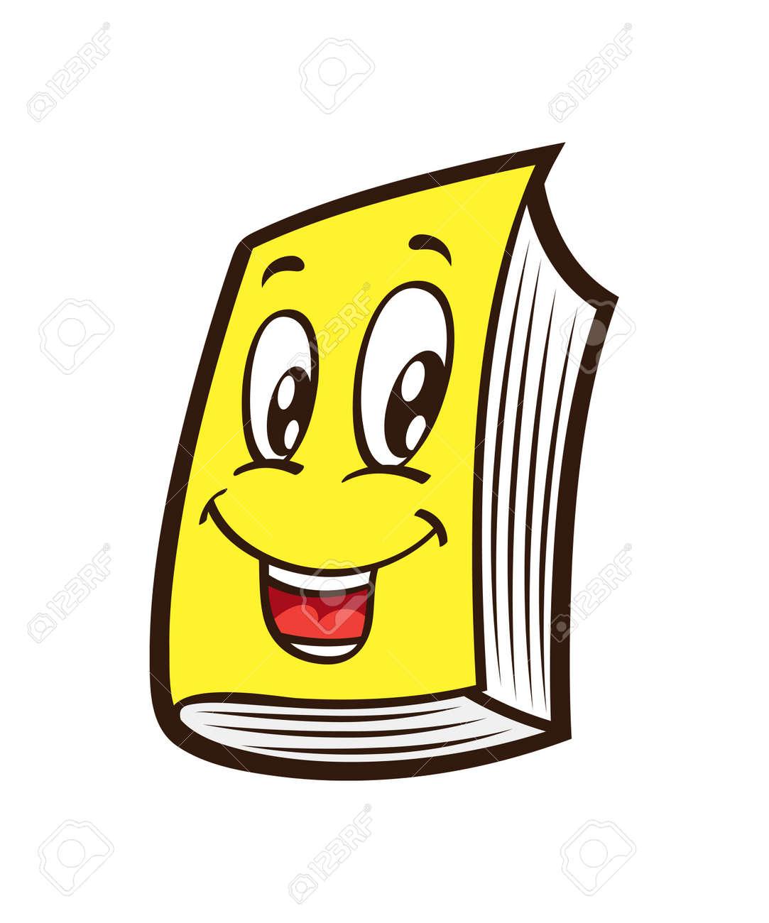 cartoon book royalty free cliparts vectors and stock illustration rh 123rf com Sarcastic Smiley Face Clip Art Flower Smiley Face Clip Art