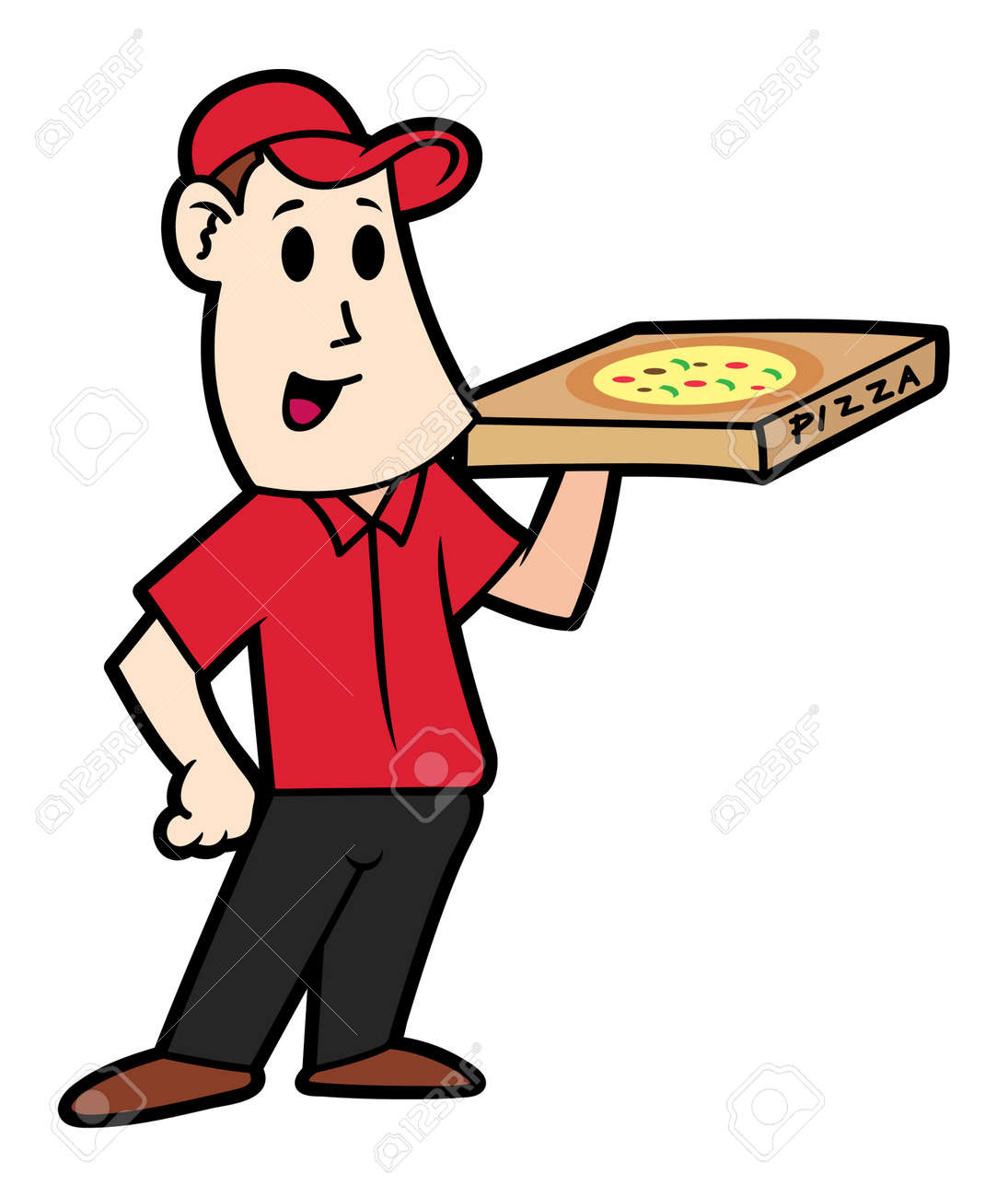 Image result for pizza driver cartoon