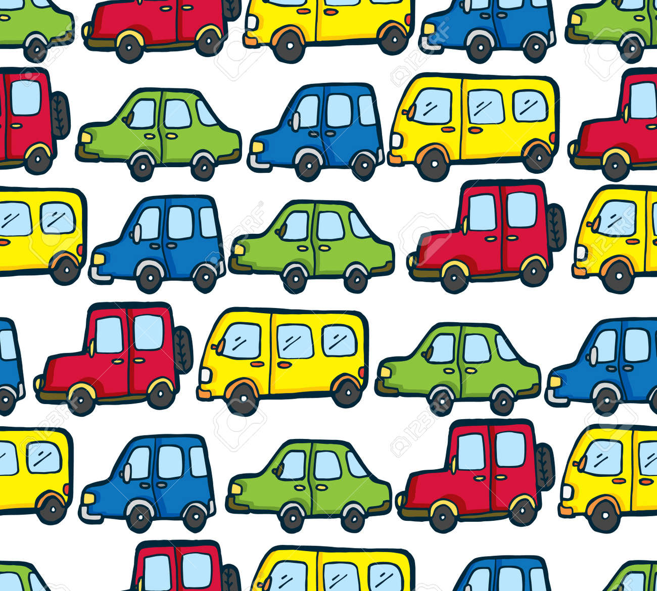 cartoon car pattern royalty free cliparts vectors and stock