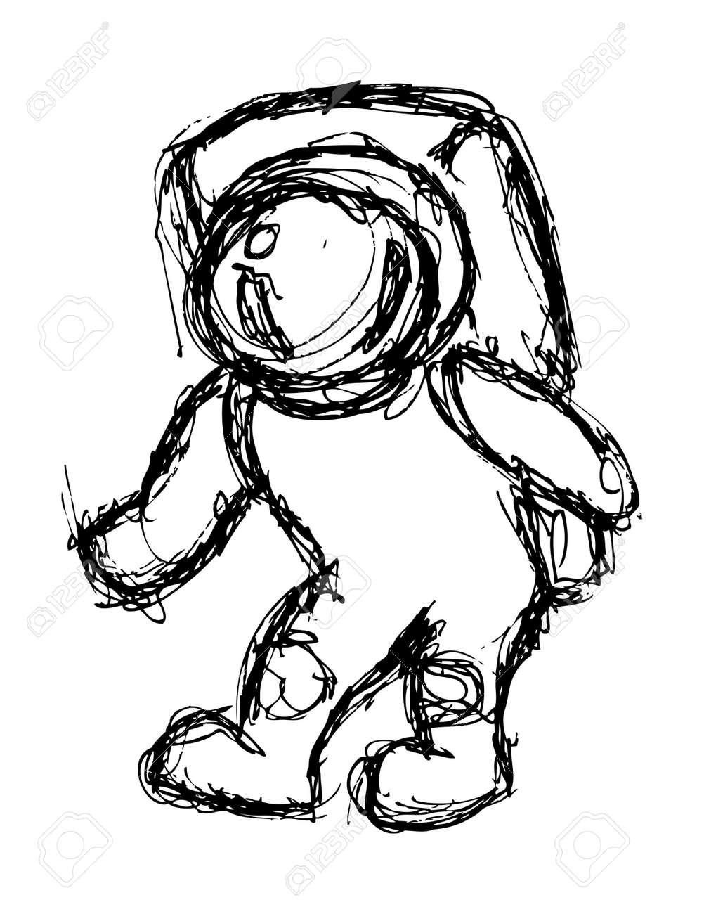 Grunge astronaut doodle Stock Vector - 21523423