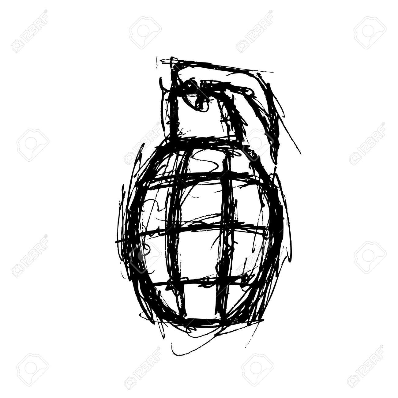 Hand drawn granade Stock Vector - 21523486