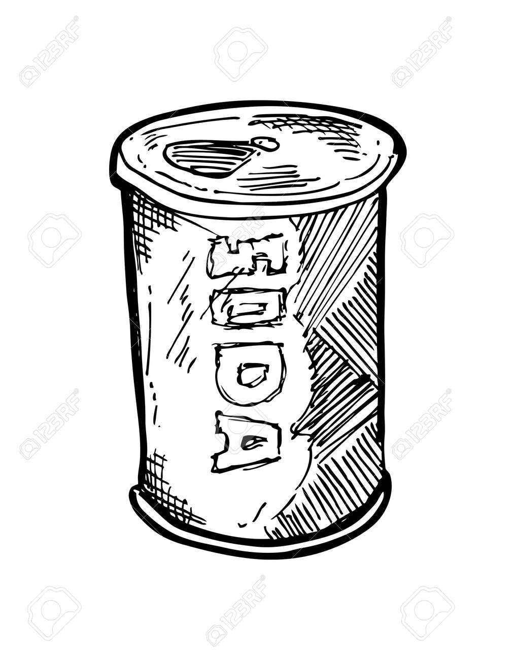 hand drawn soft drink can Stock Vector - 21523764
