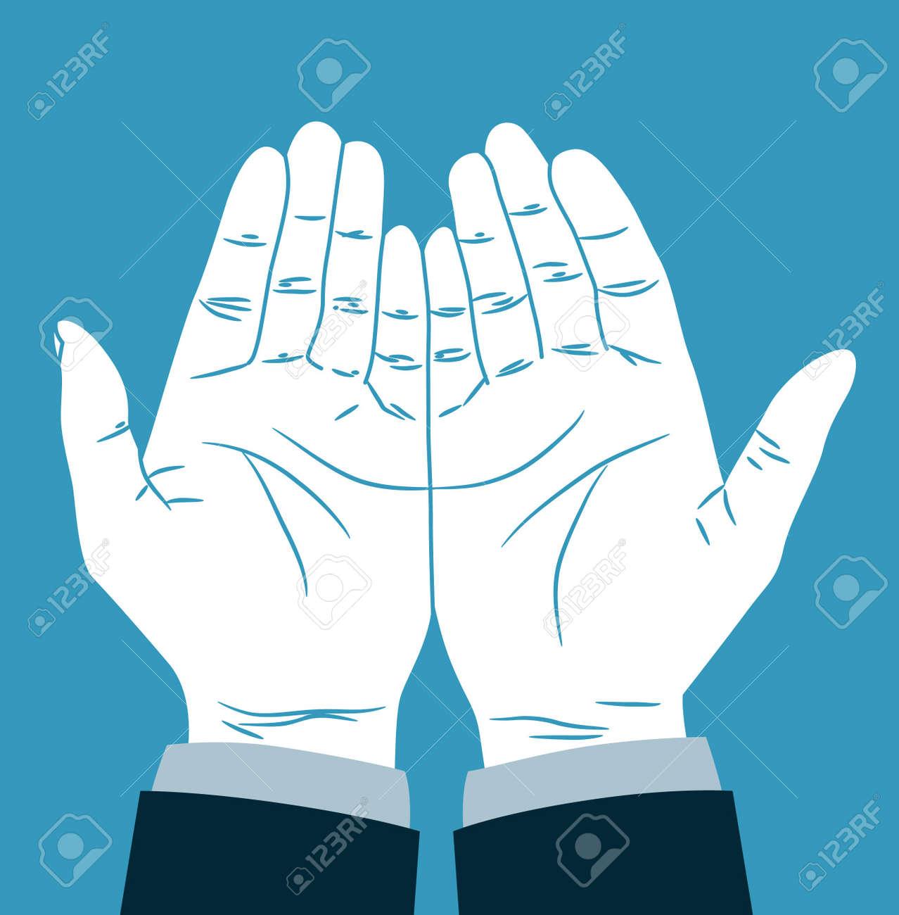 praying hand Stock Vector - 21393936