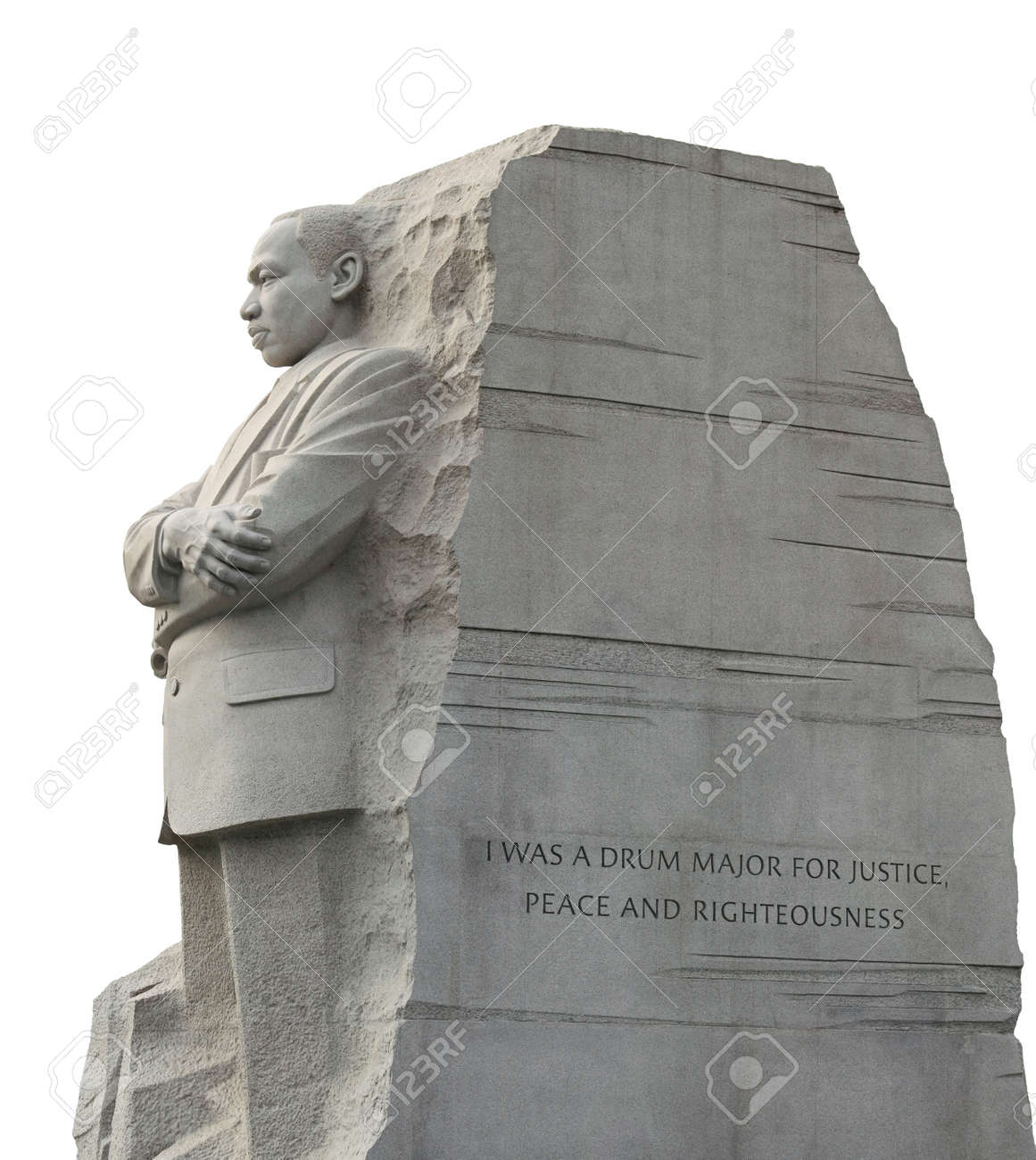 Left Side View Of The Martin Luther King Memorial In Washington