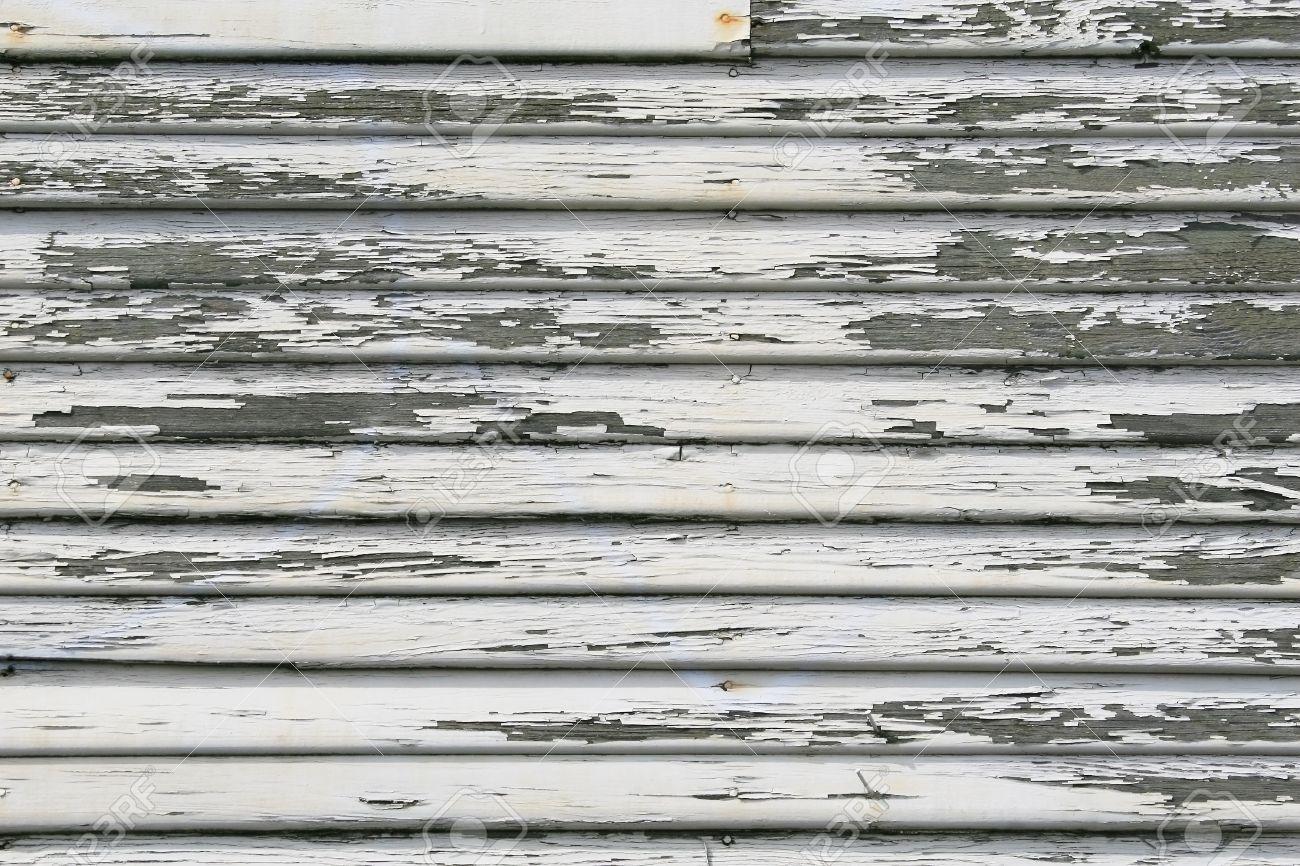 Weiß Farbige Abblätternde Farbe, Auf Vintage Abgeschrägte ...