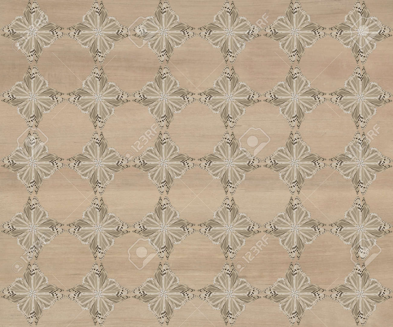 Wood tile, dark grayish brown with darker diamond butterfly pattern inlay  Faux Wood Marquetry Great textured design for flooring, wallpaper  Nice classic look Stock Photo - 13706562