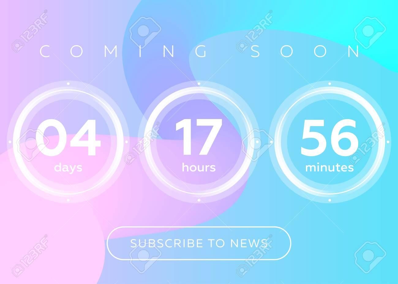 Vector Illustration of Countdown Timer  Digital Clock Design