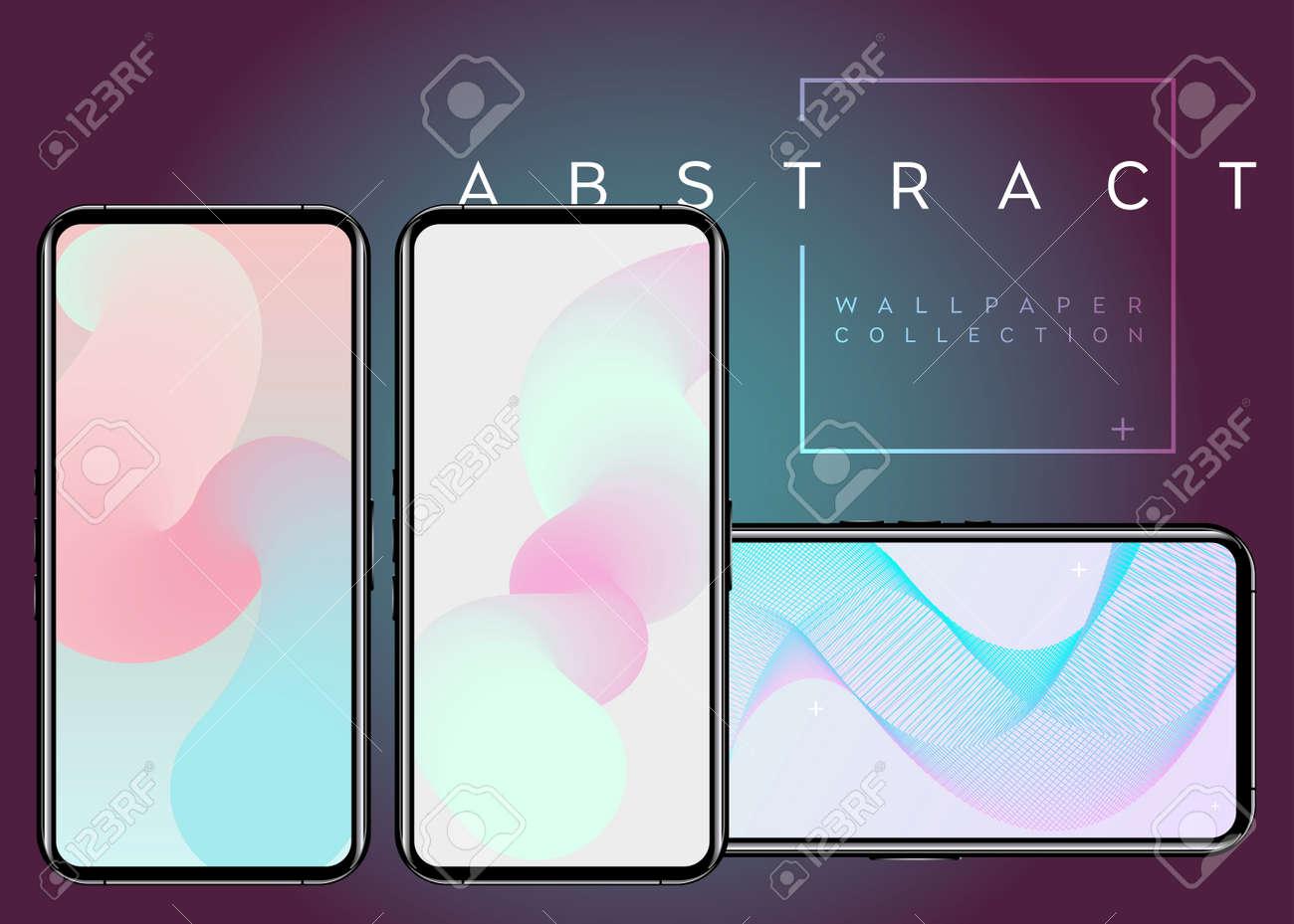 Phone X Abstract Fluid Vector Wallpapers Colores Pastel En La Pantalla Del Dispositivo Diseño De Fondo Digital Moderno Patrón Geométrico Mínimo