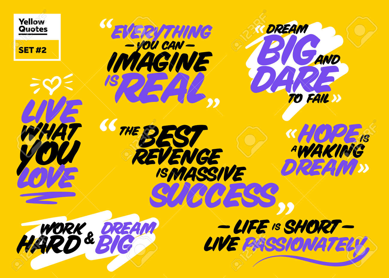 Vector Collection Of Famous Inspirational Quotes.