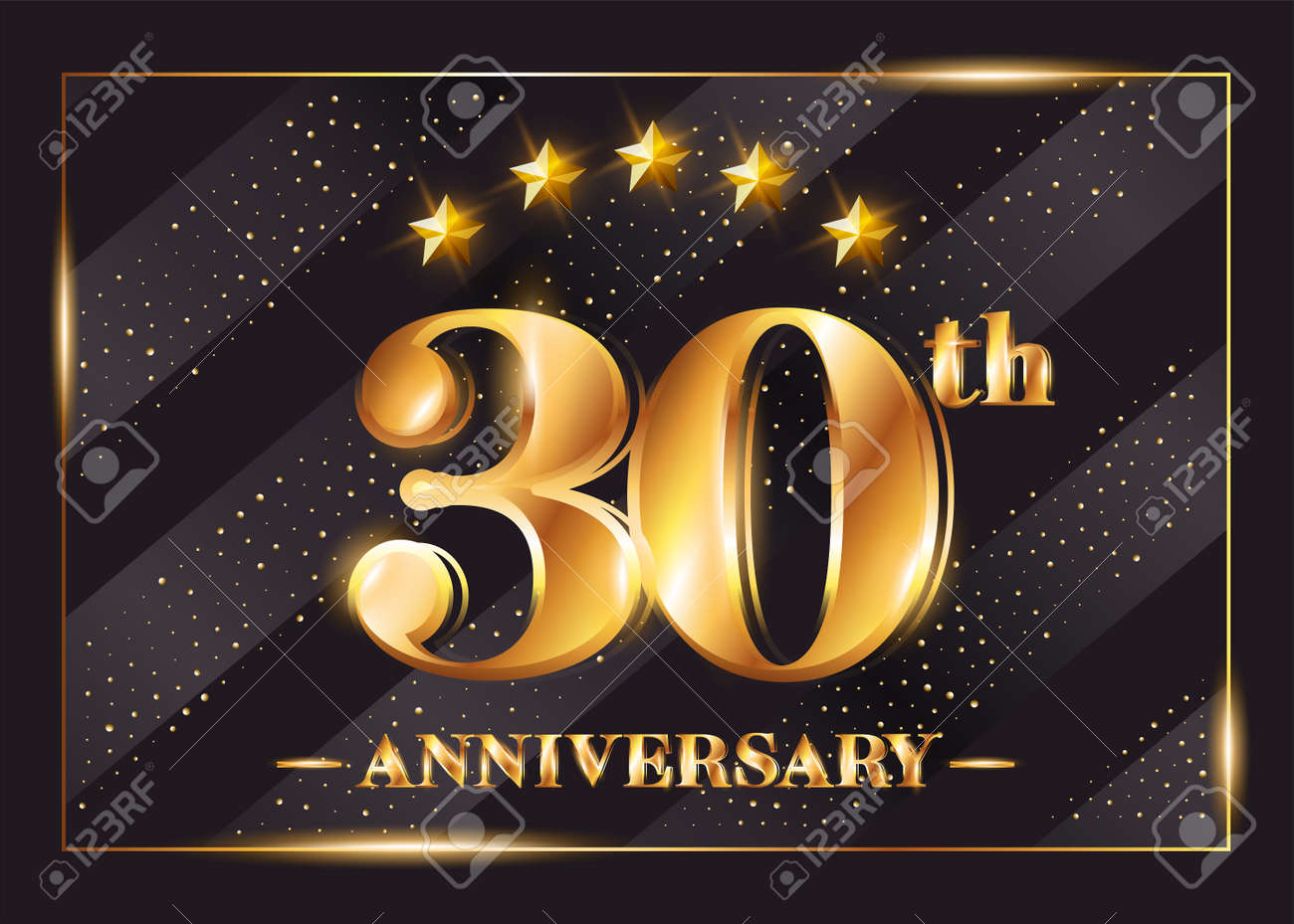30 years anniversary celebration vector logo. 30th anniversary