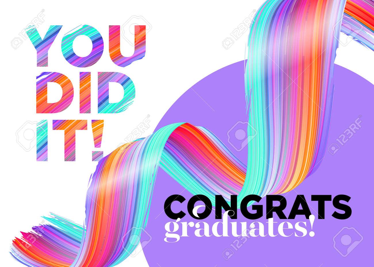 You Did It Congratulations Graduates Class of 2018 Vector Logo
