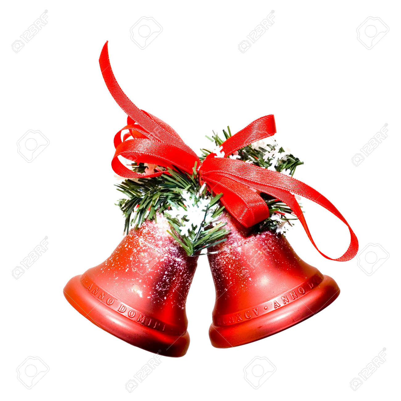 Christmas bells isolated on white background Stock Photo - 618774