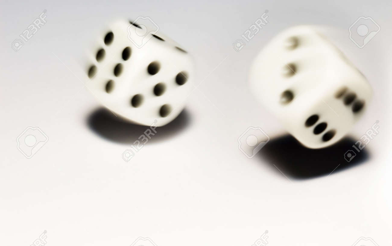 Rolling dice with move effect Stock Photo - 649911