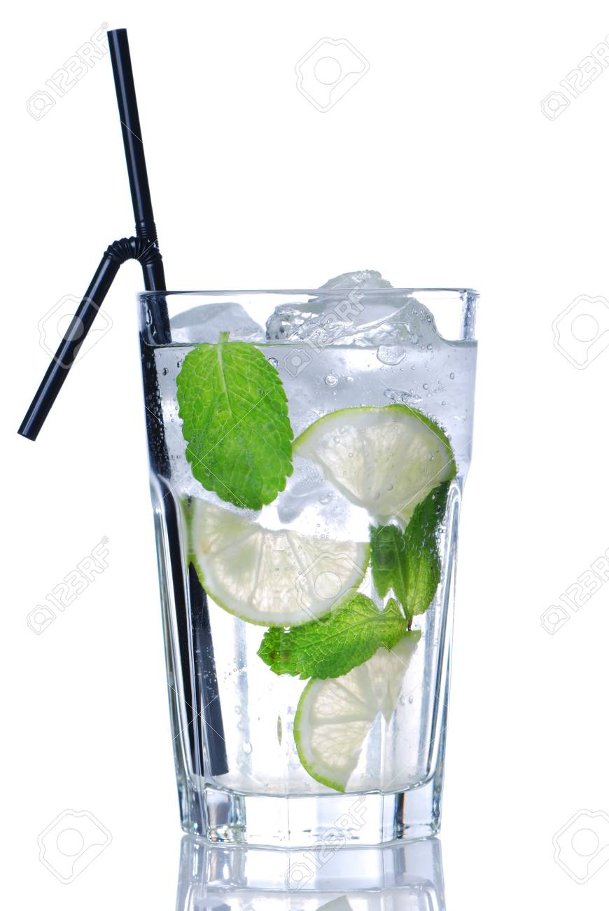 Mojito cocktail isolated on white Stock Photo - 5083305