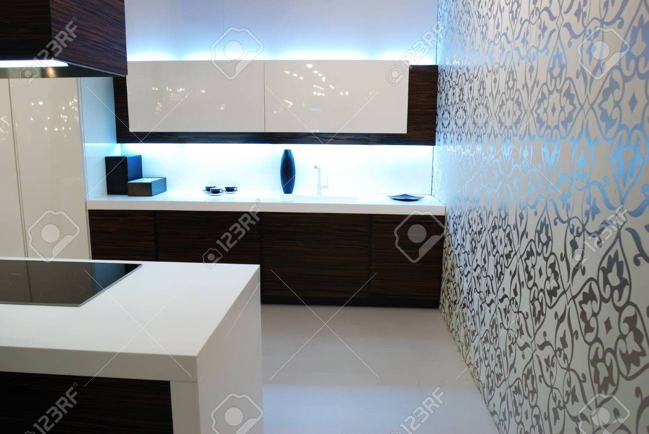 Modern new kitchen luxury interior Stock Photo - 5096867