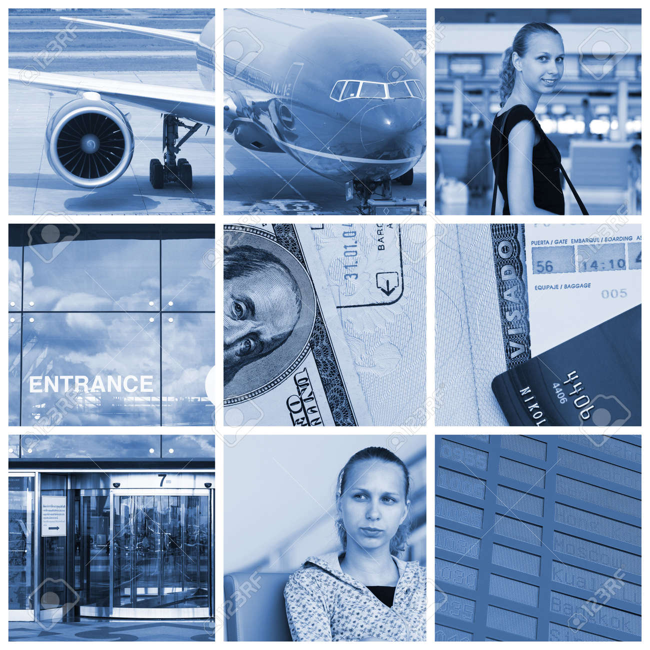Collage with travel and transport concept Stock Photo - 5814935