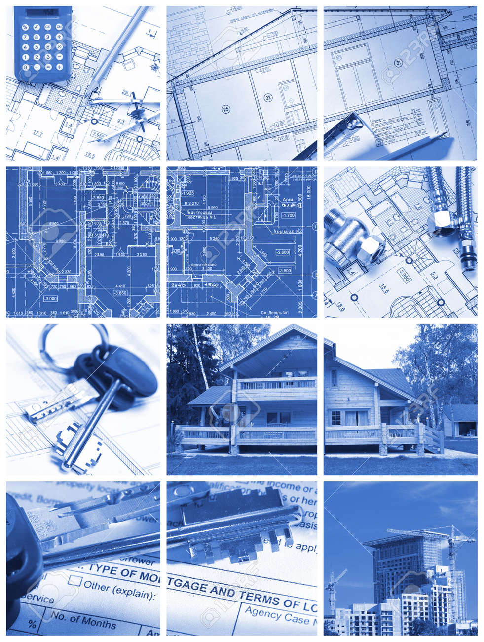 Collage made with architecture and construction related images Stock Photo - 7437945