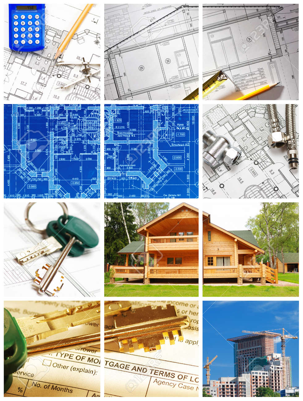 collage made architecture and construction related images collage made architecture and construction related images stock photo 7628740